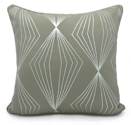Geometric Onyx Metallic Foil Print Design Filled Scatter Cushion Grey Silver
